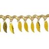 Plastic Trim Leaves - Gold
